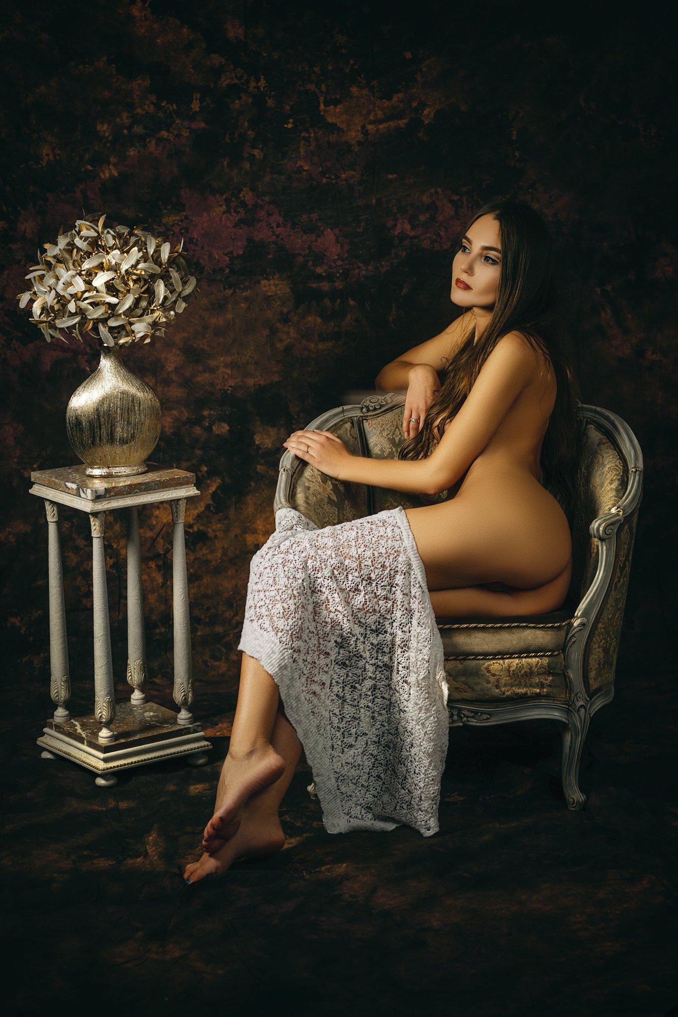 woman, portrait, nude, art, studio, Руслан Болгов (Axe)