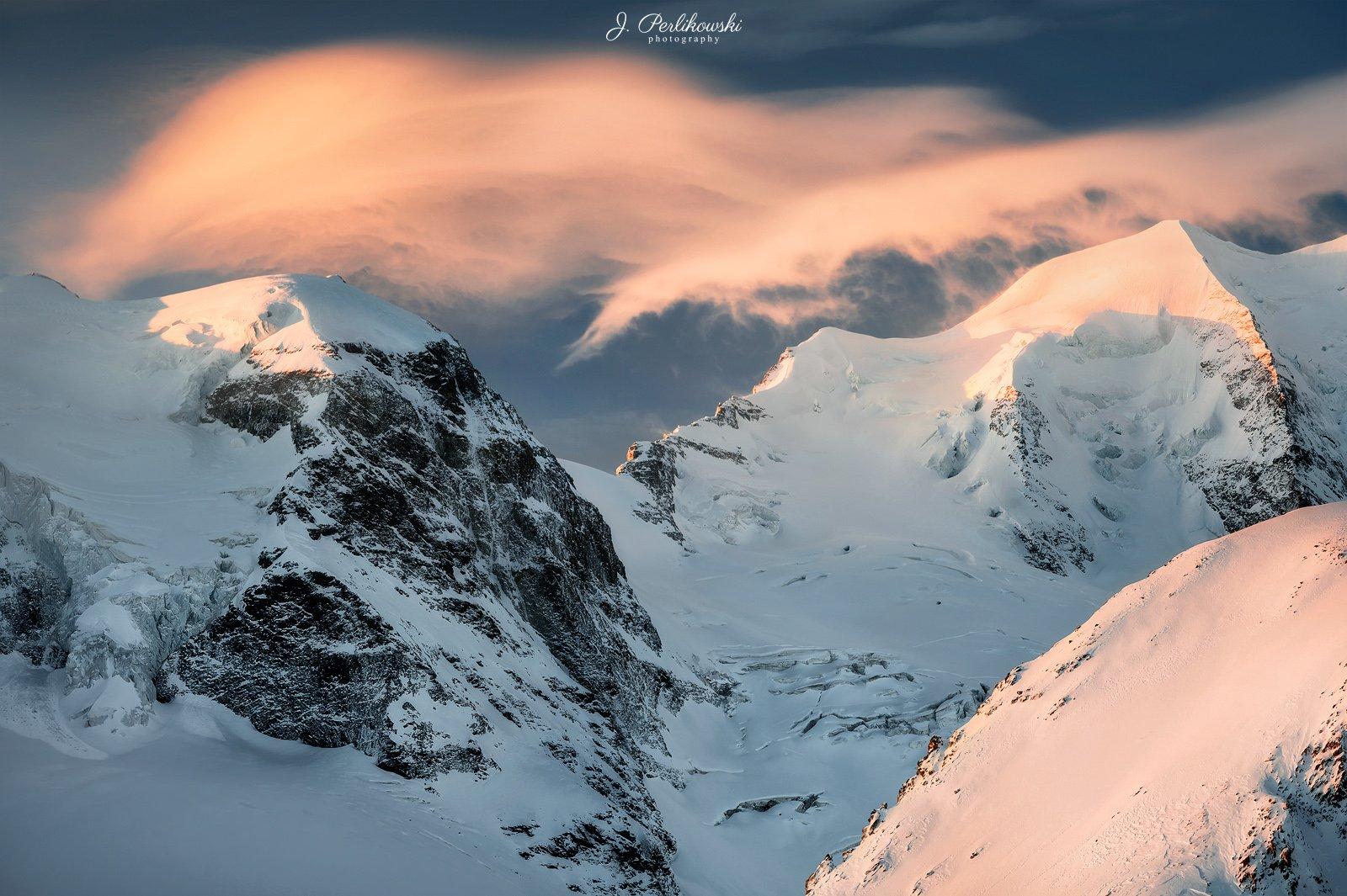 switzerland, glacier, alps, sunrise, winter, morning, colours, landscape,mountains,, Perlikowski Jakub