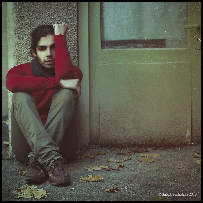 fall, man, single, missing, sad, green, door, Babak Fatholahi
