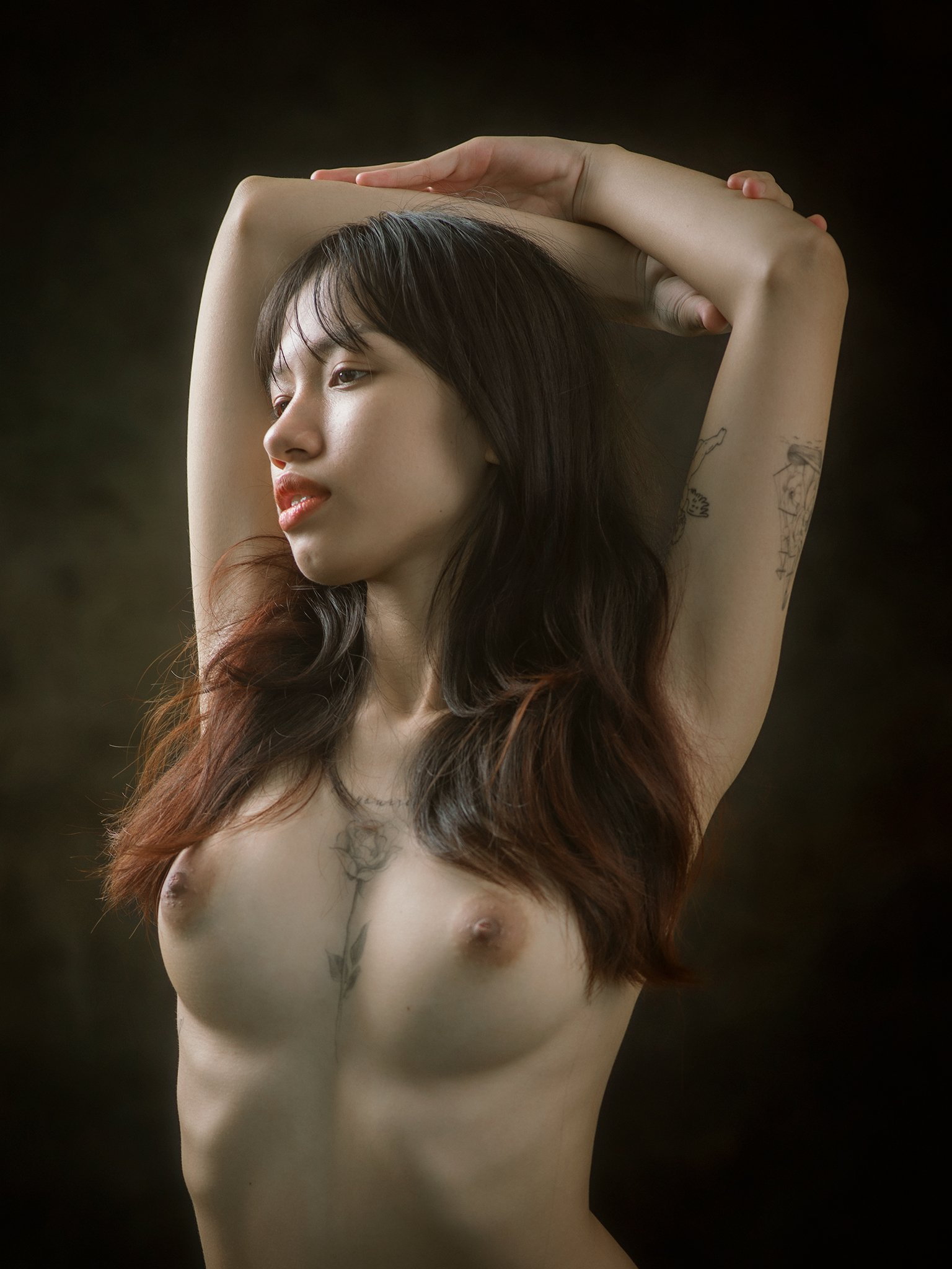 portrait, female, woman, girl, asian, vietnam, vietnamese, young, beauty, glamour, nude, fine nude, light, studio, Hoang Viet Nguyen