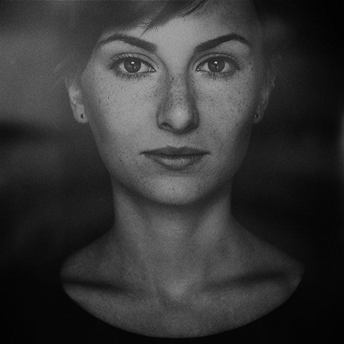 Имитация пленки, Портрет женский, Чб, Маховицкая Кристина