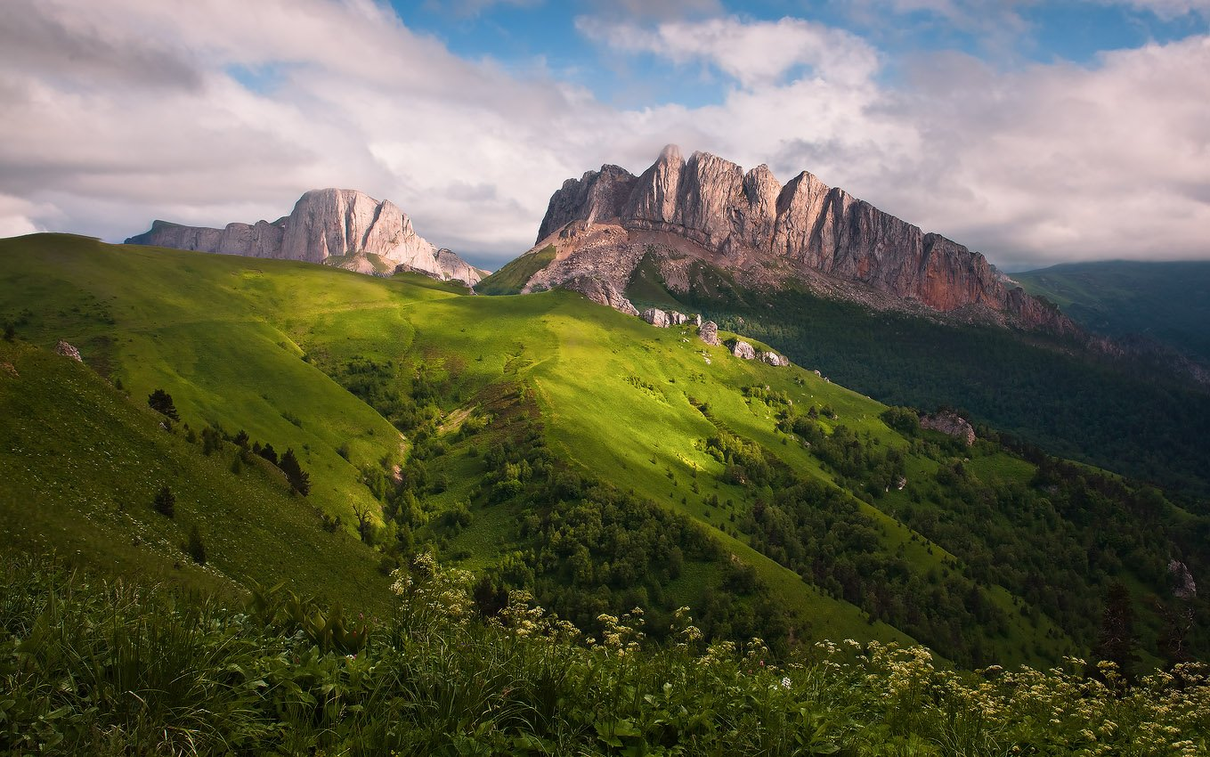 кавказ, горы, ачешбок, Николай