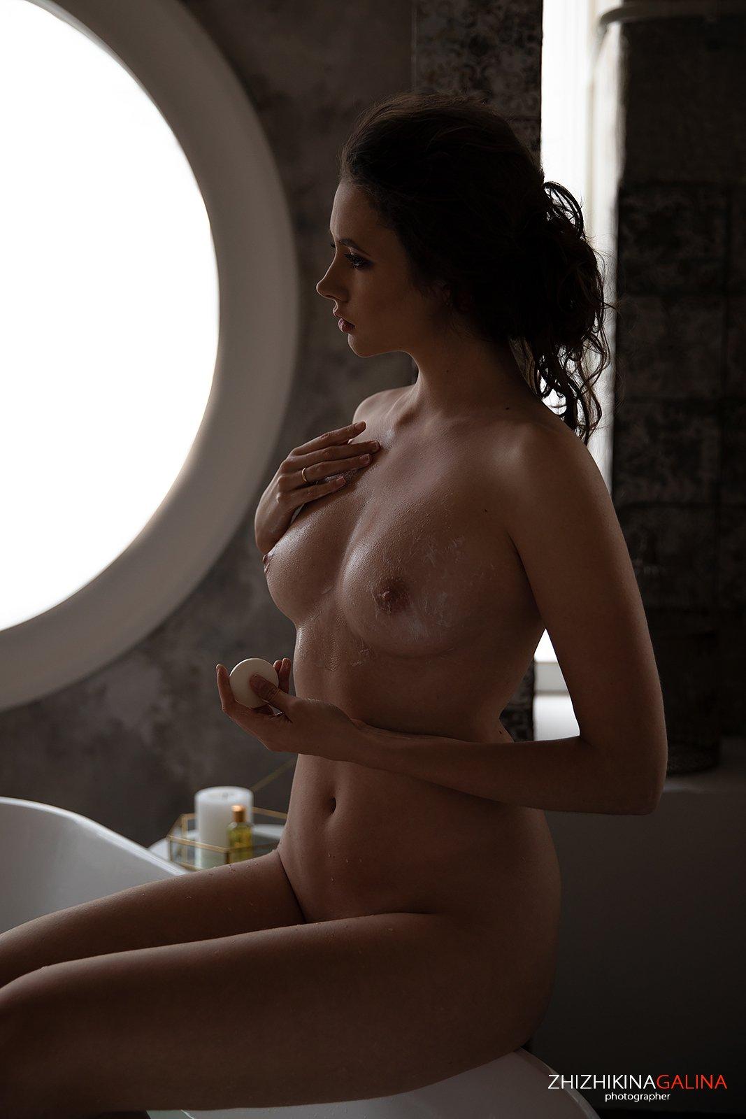 девушка, купание, мокрая, ню, артню, прикосновение, нежность, nude, artnu, girl, naked, portrait, Галина Жижикина
