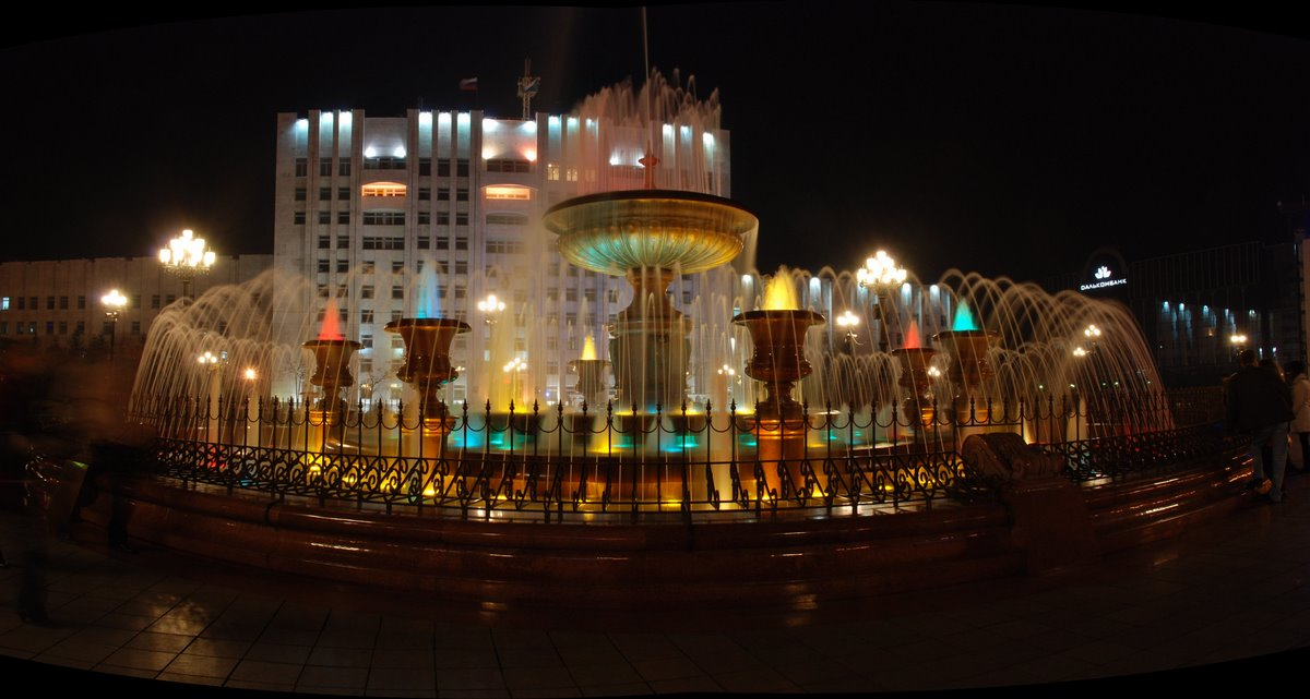 фонтан, ночь, хабаровск, Евген