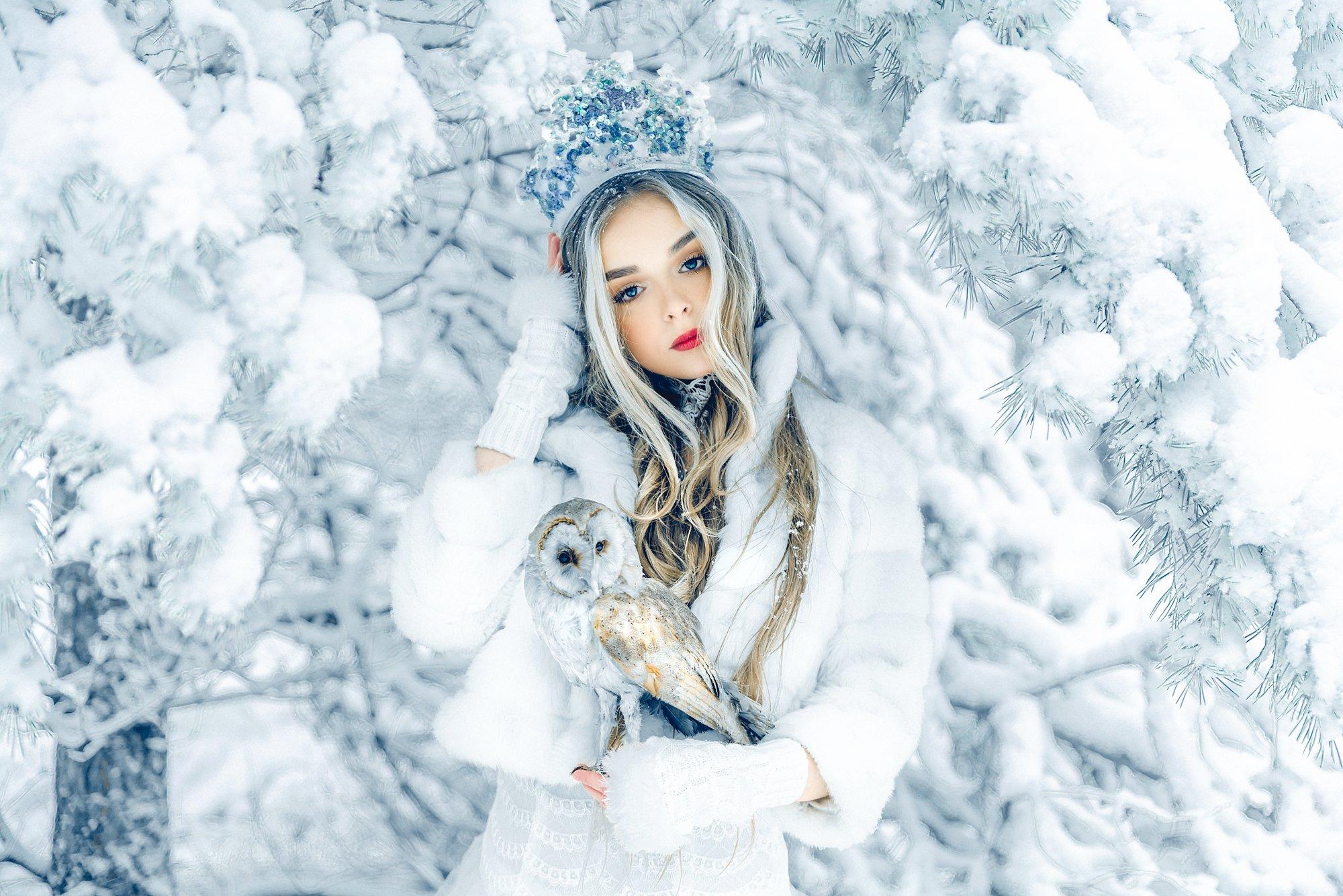 woman, portrait, conceptual, outdoors, winter, beauty, Руслан Болгов (Axe)