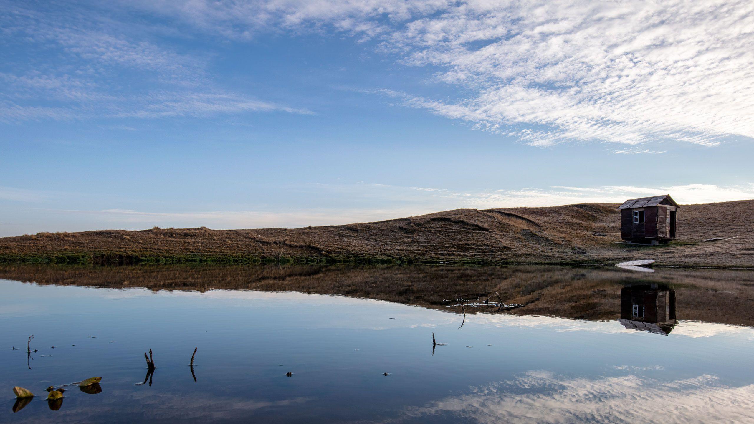 Дагестан, пейзаж, горы, Valius, Россия, озеро, облака,  Valius
