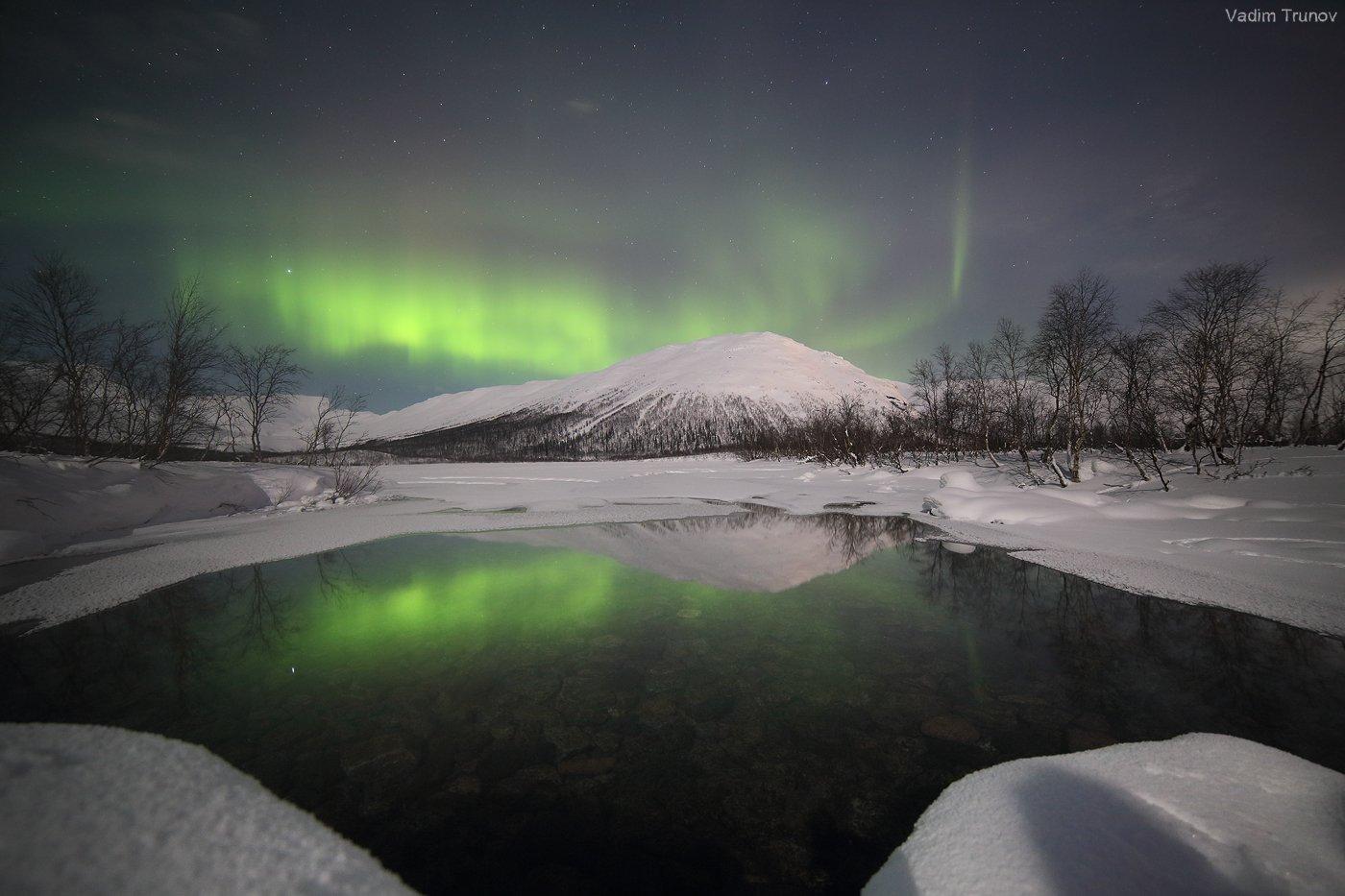 кольский, север, заполярье, хибины, северное сияние, aurora borealis, Вадим Трунов