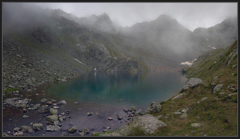кавказ, горы, озеро, Николай Стюбко