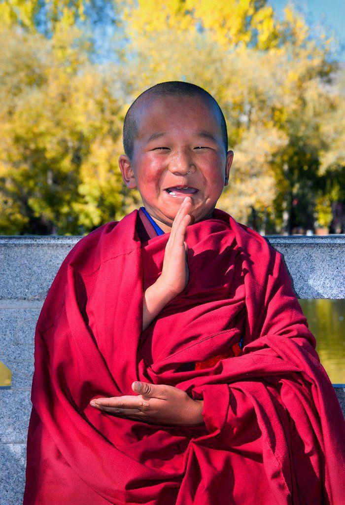 буддизм, лхаса, монах, тибет, улыбка, Бирюков Юрий
