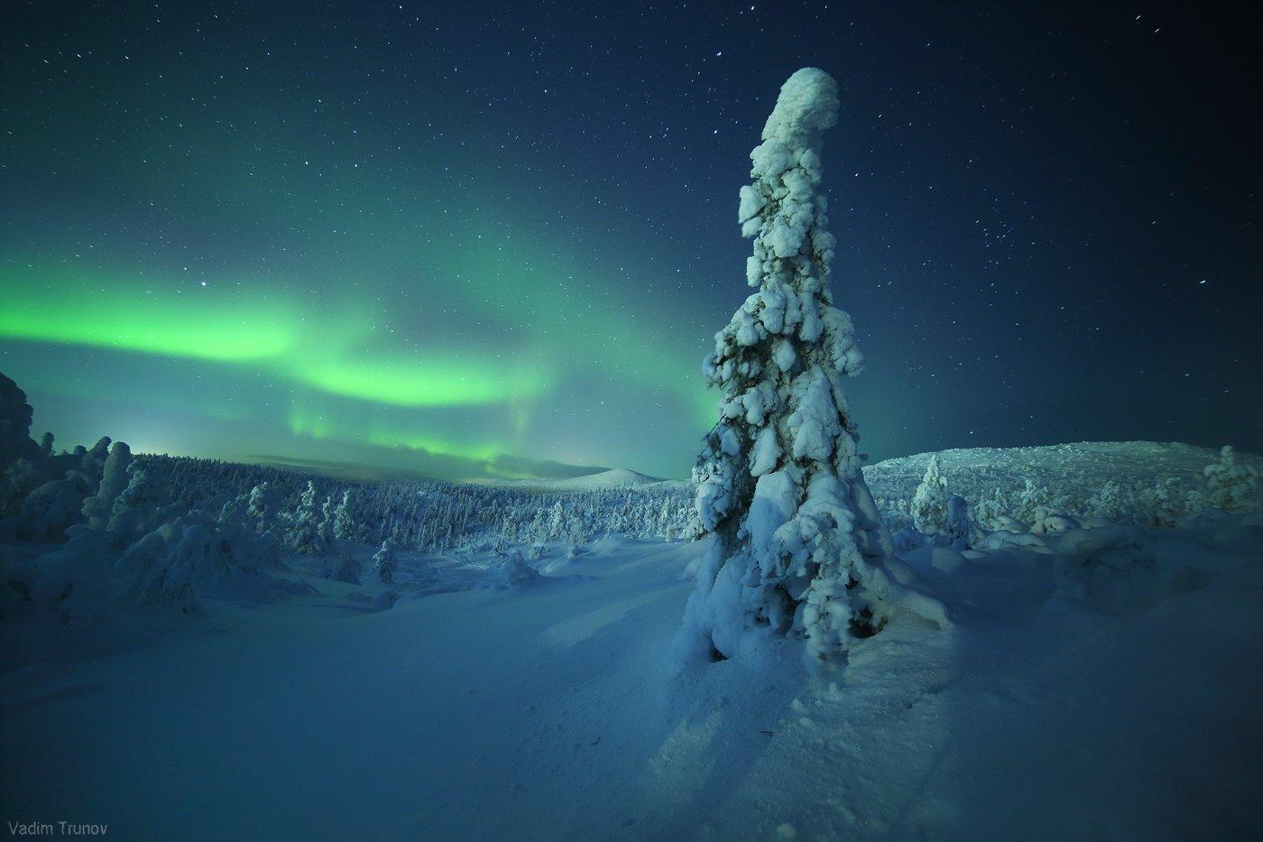 кольский, север, заполярье, северное сияние, aurora borealis, Вадим Трунов