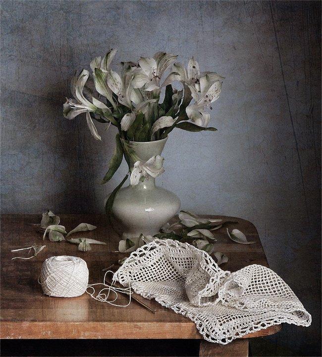 вязание, натюрморт, цветы, LudmilaNG