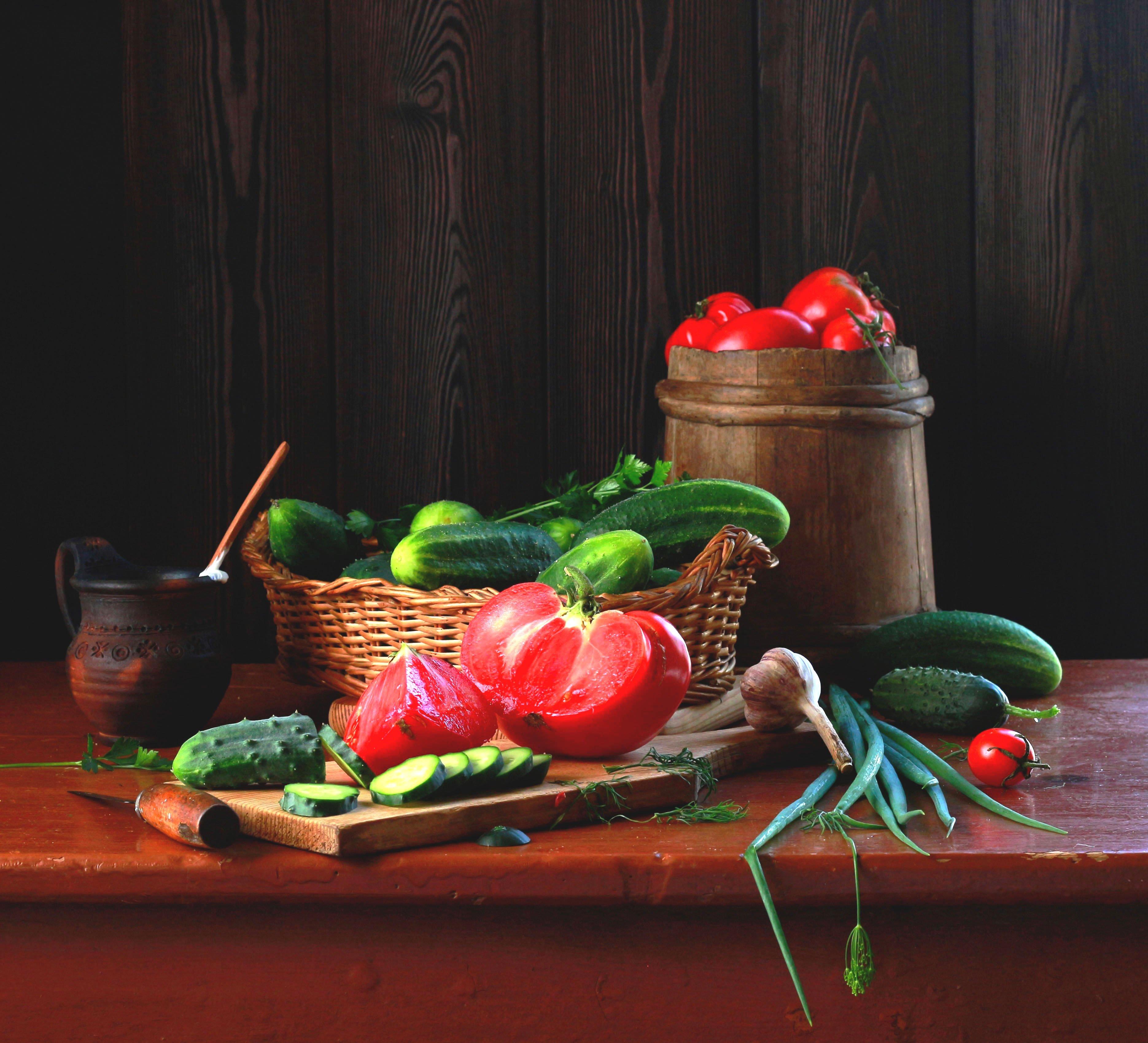 натюрморт, фотонатюрморт, лето, овощи, помидоры, огурцы, наталья казанцева, Казанцева Наталья