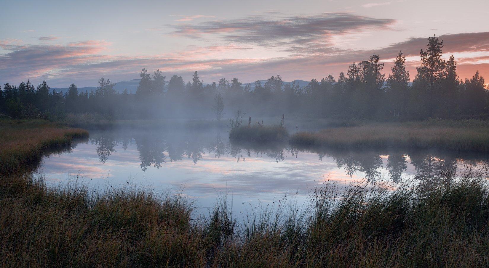 пейзаж,россия,кольский,север,небо,рассвет,отражение, Истомин Виталий
