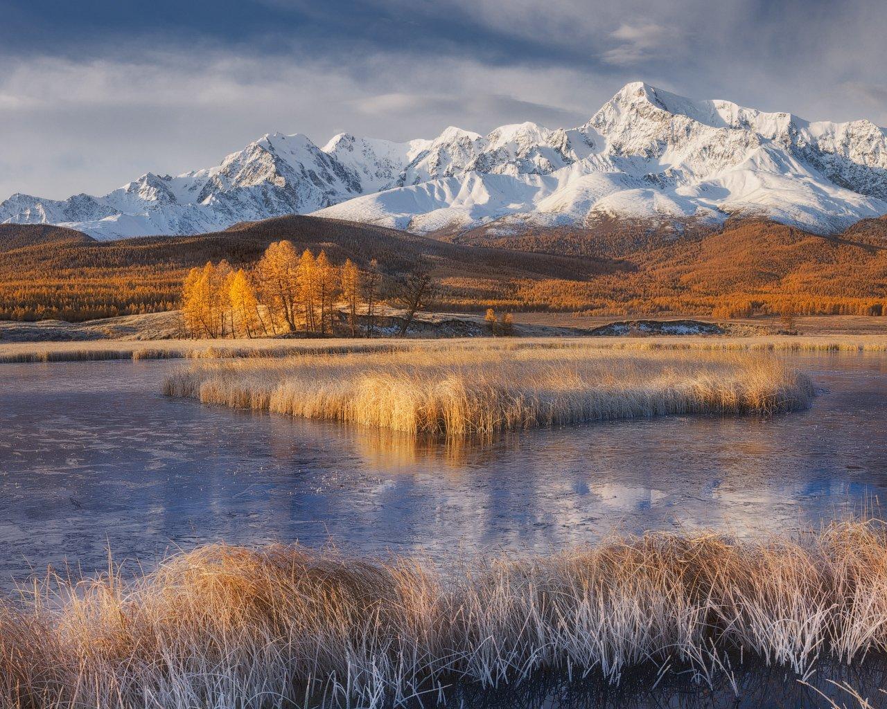 алтай, осень, озеро, горы, Медянцев Дмитрий