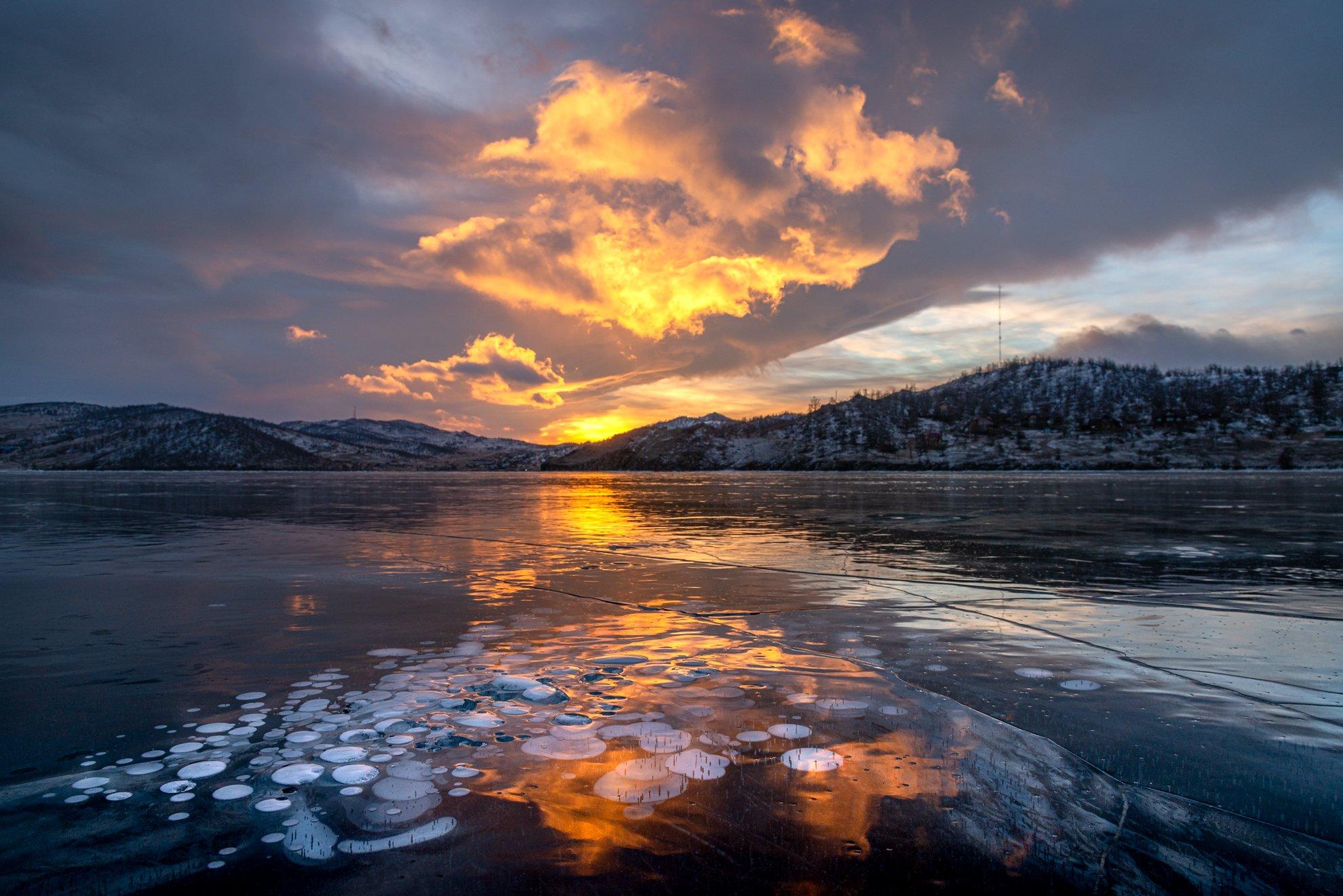 зима, лед, пузыри, льдинка, байкал, Чекалев Алексей