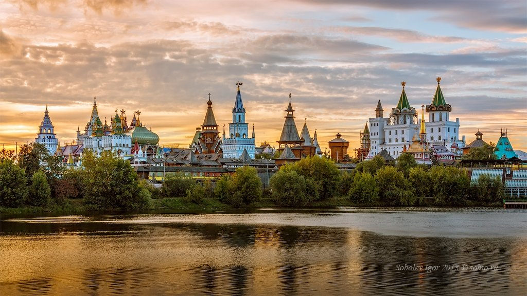вечер, измайлово, измайловский кремль, москва, Соболев Игорь