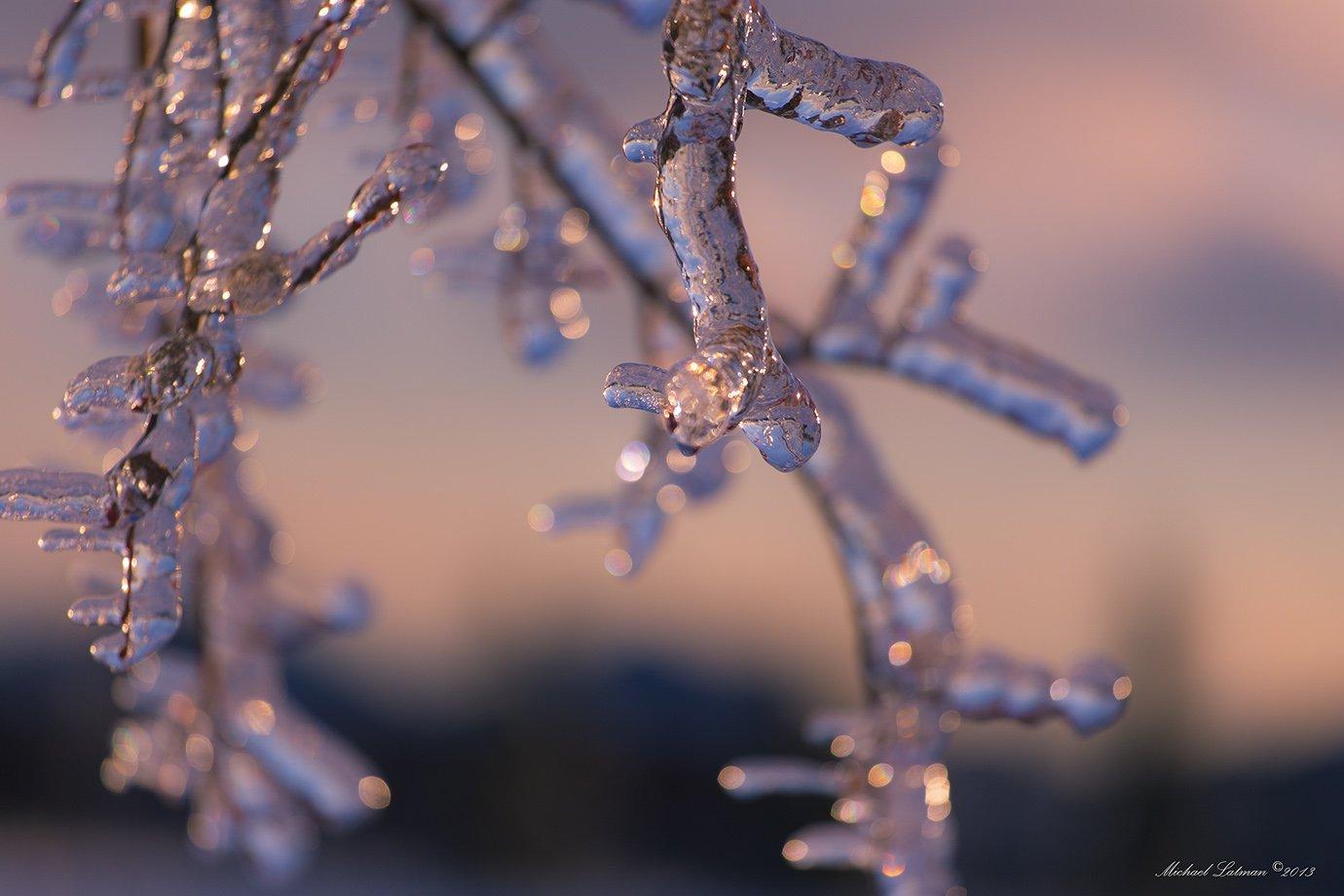 Evening, Ice, Sunset, Winter, Michael Latman