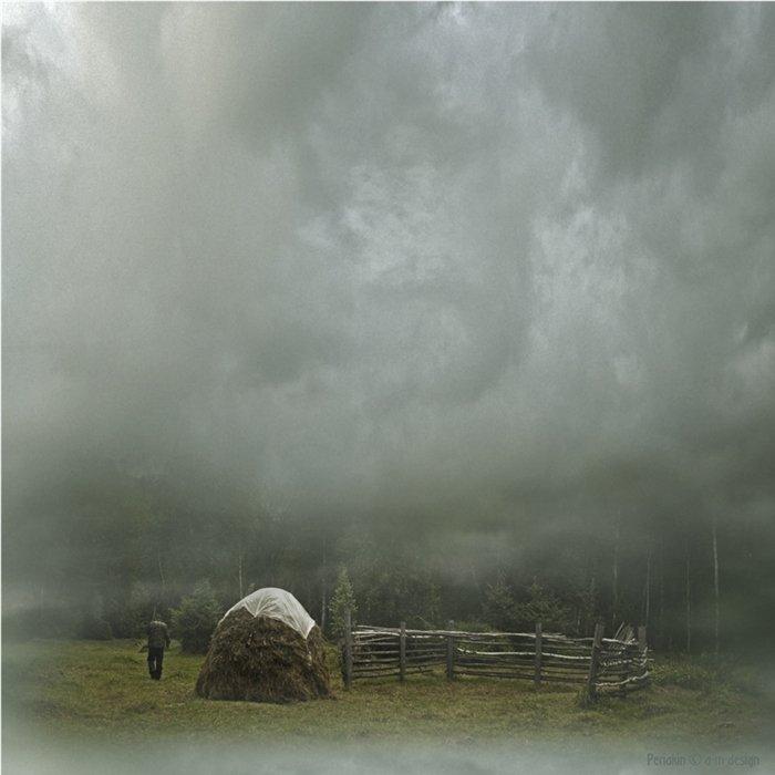 туман, стога, утро, похмелье, Виктор Перякин