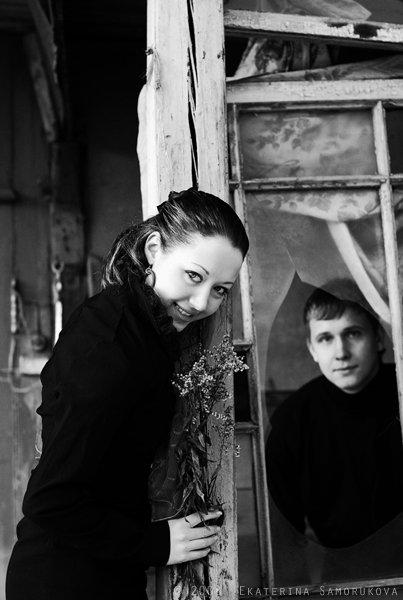 пара, чб, дом, Екатерина Саморукова