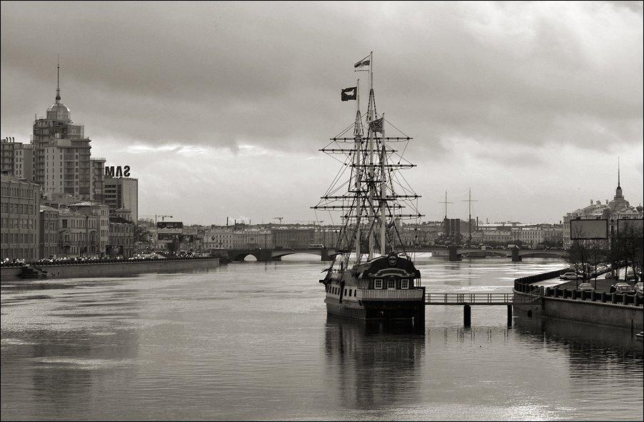 петербург, нева, корабль, парусник, зима, Kirill Shapovalov