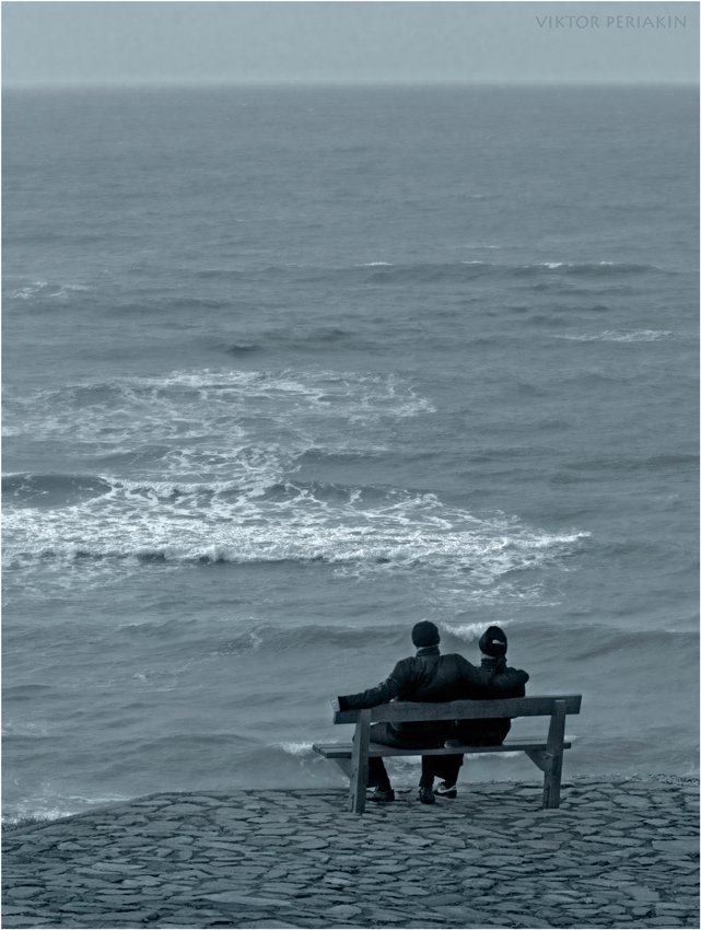 скамейка, море, влюбленные, Виктор Перякин
