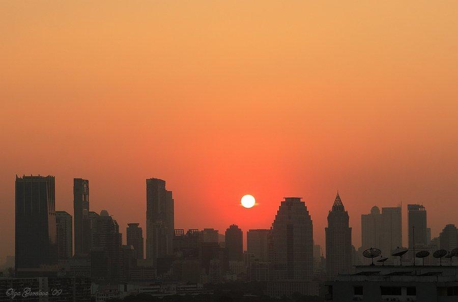 фото, азия, тайланд, закат, город, Olga Gorelova