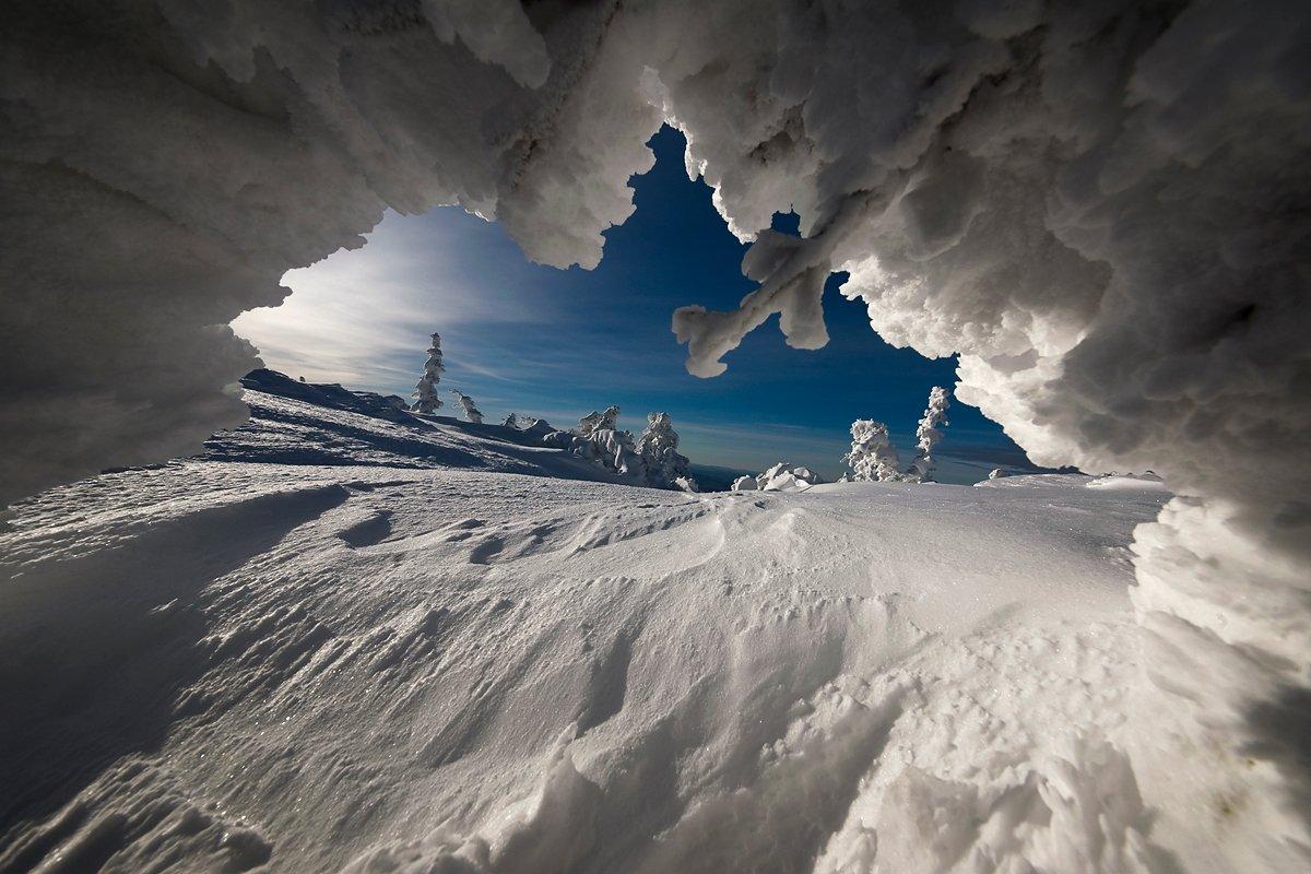 окно, шерегеш, снег, иней, горная шория, Валерий Пешков