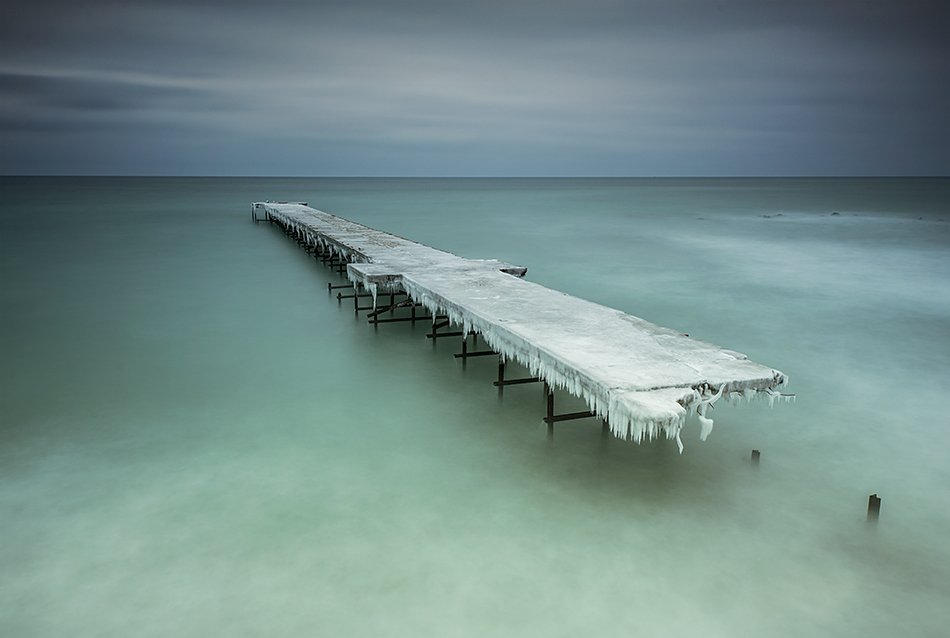 Beach, Blacksea, Bridge, Bulgaria, Coast, Dynamic, Frozen, Ice, Lee Big Stopper, Nature, Seascape, Sky, Евгений Иванов