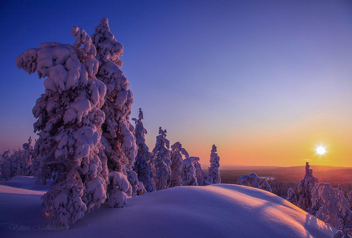 Зимнее солнце уходящего дня ... Valtteri Mulkahainen