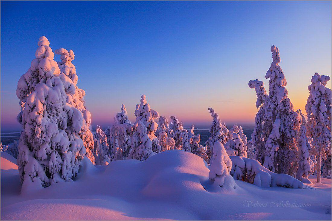 Зимним вечером .... Valtteri Mulkahainen