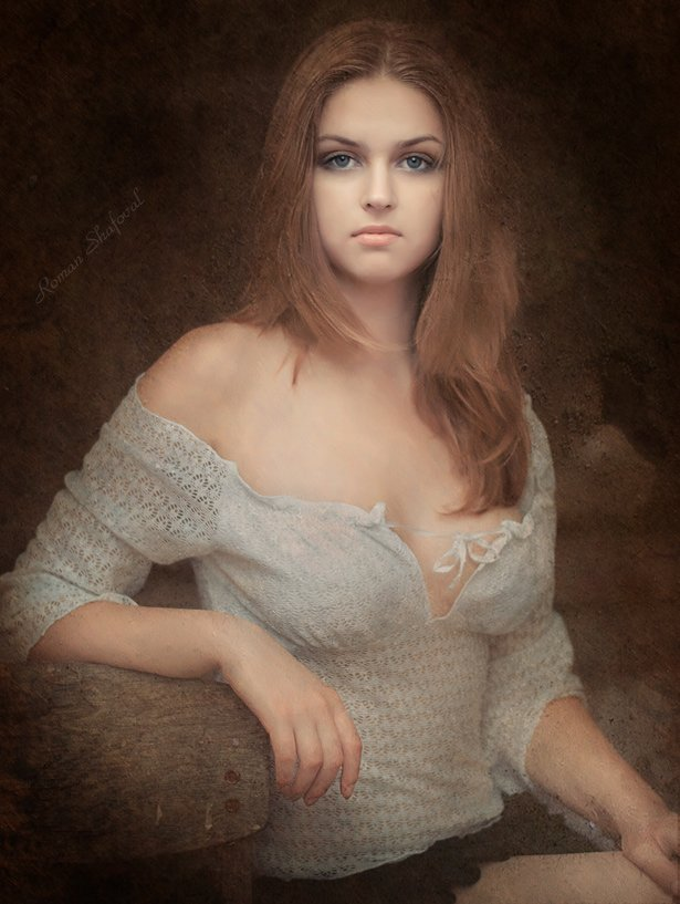 Девушка, Портрет, Роман