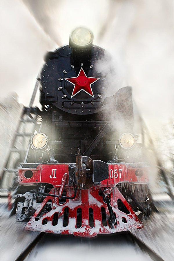 Lights, Moscow, Old, Rails, Russia, Smoke, Train, Yury Barsukoff
