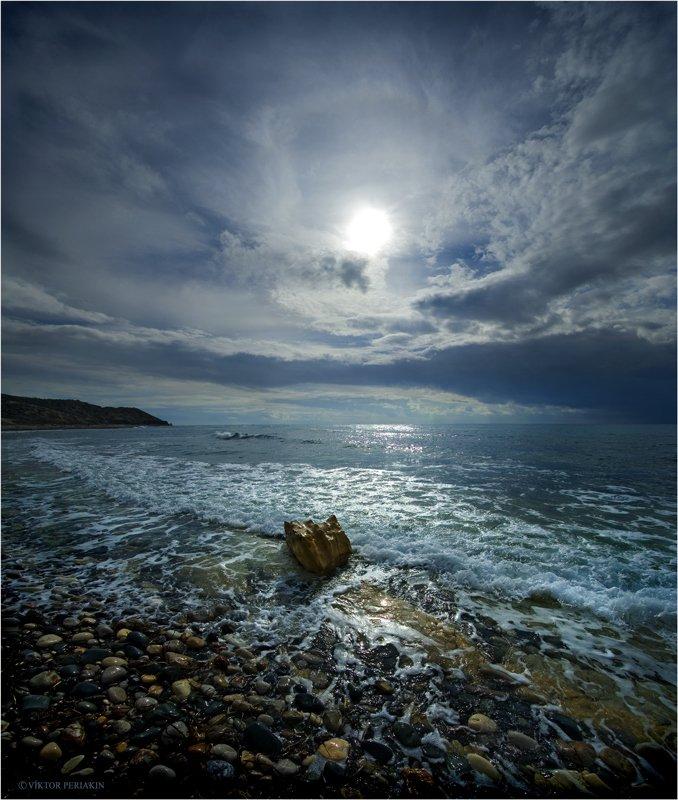 море, прибой, шторм, солнце, кипр, Виктор Перякин