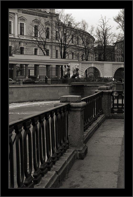 петербург, банковский, мостик, зима, Kirill Shapovalov