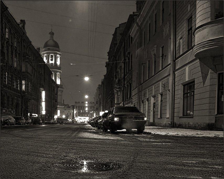 петербург, колокольная, зима, ночь, Kirill Shapovalov