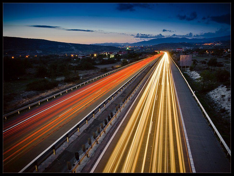 кипр,ночь,автобан,скорость,цвет,night motorway, Александр Константинов