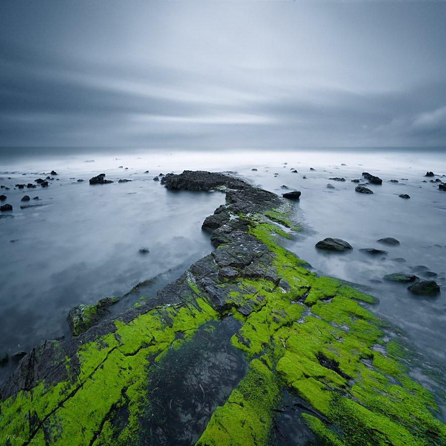 Atlantic Ocean, Green, Long exposure, North Coast, Northern ireland, Stones, Marius Kastečkas