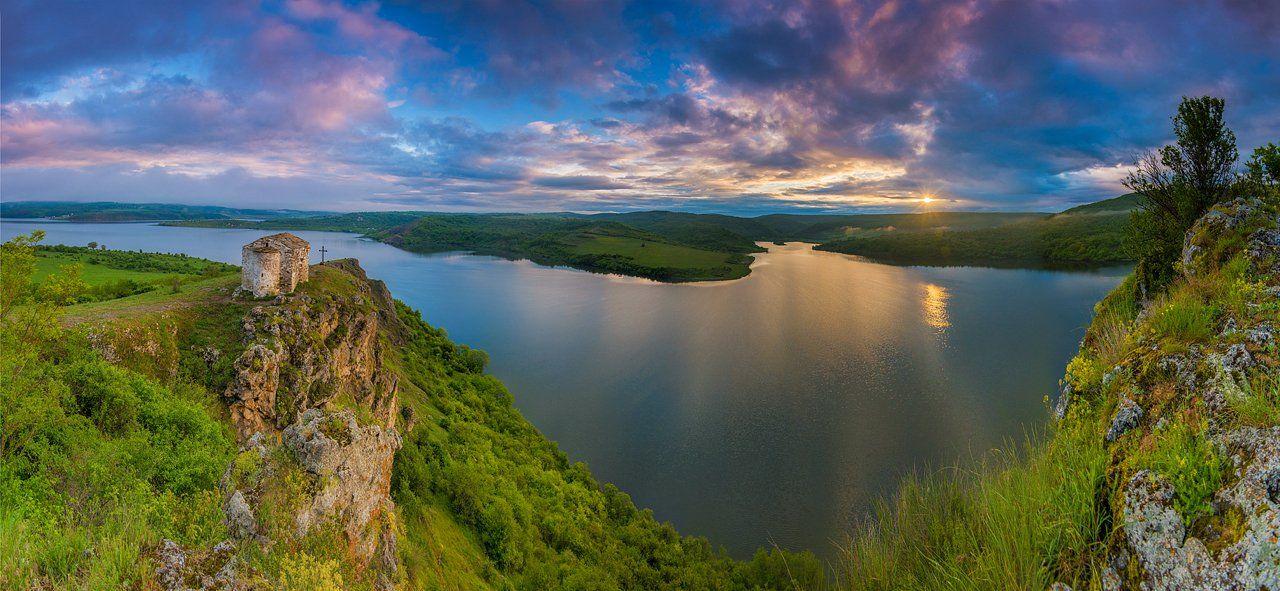 god, place, sunrise, panorama, church, amazing, lake, Philip Peynerdjiev