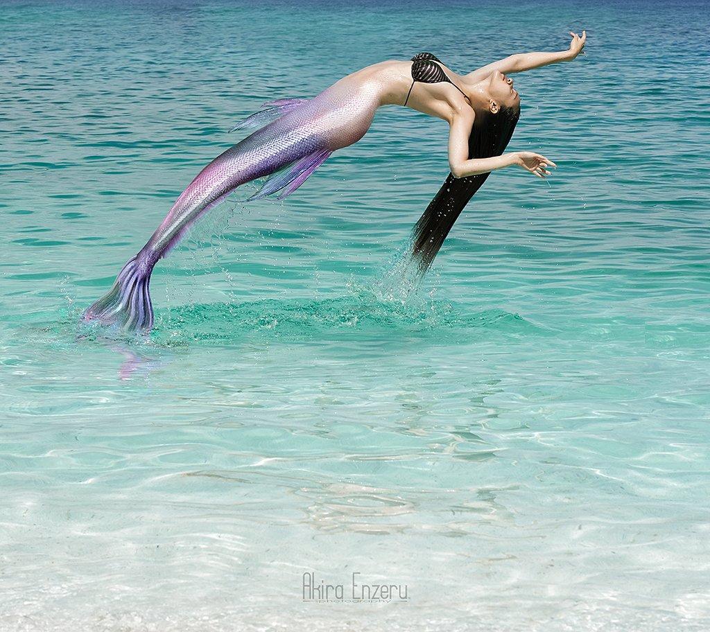 Ballerina, Ballet, Beach, Fantasy, Mermaid, Sea, Akira Enzeru