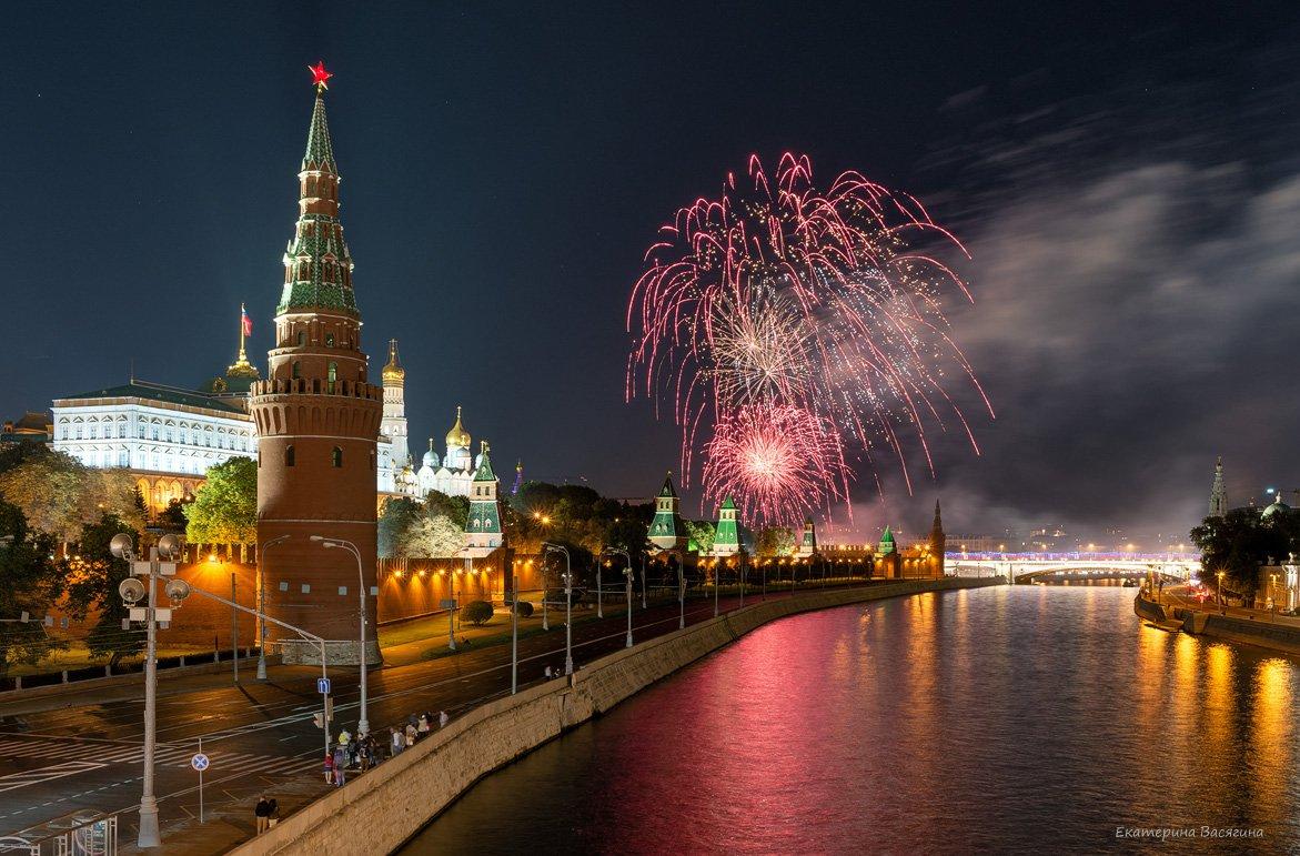 москва, салют, город, праздник, Екатерина Васягина (Silent Candle)