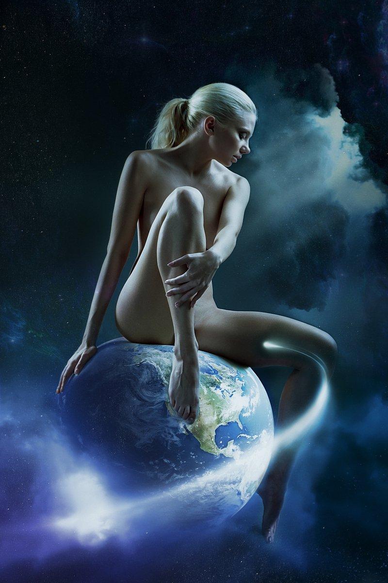 Creation of the world, Creation of the world #earth #na, Creation of the world #earth #na, Earth, Naked girl, Nude, Sky, Aurimas Valevičius