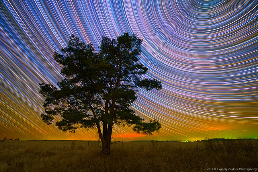 Art, Evgeniy Zaytsev, Landscape, Long exposure, Night, Night sky, Nikon, Stars, Startrails, Евгений Зайцев