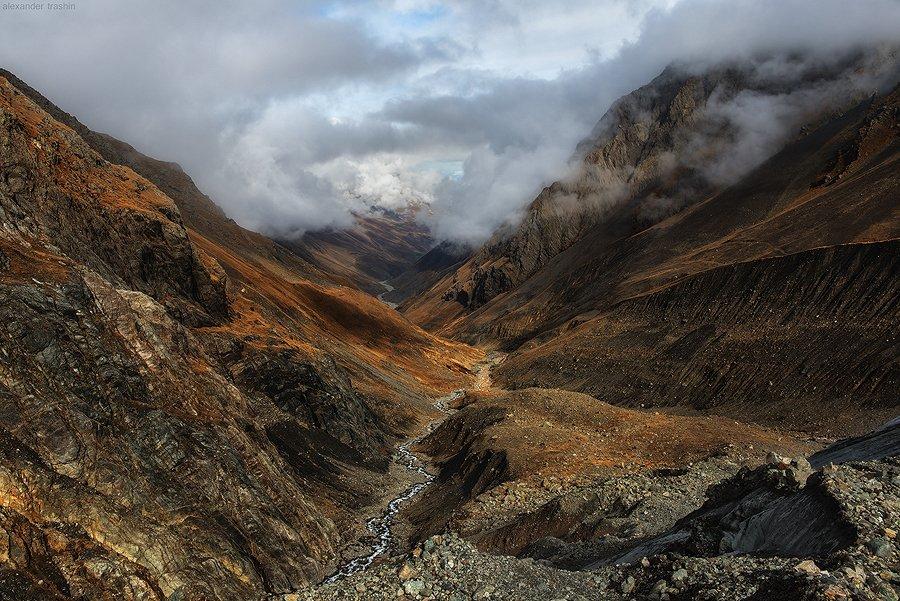 кармадонское ущелье, ледник майли, морена, северный кавказ, Александр Трашин