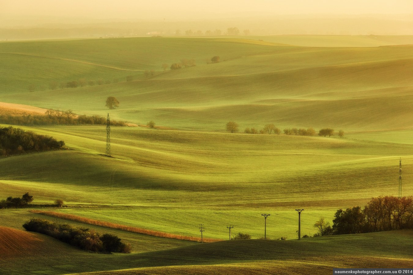 волны,осень,пейзаж,поле, чехия,южная моравия, Александр Науменко