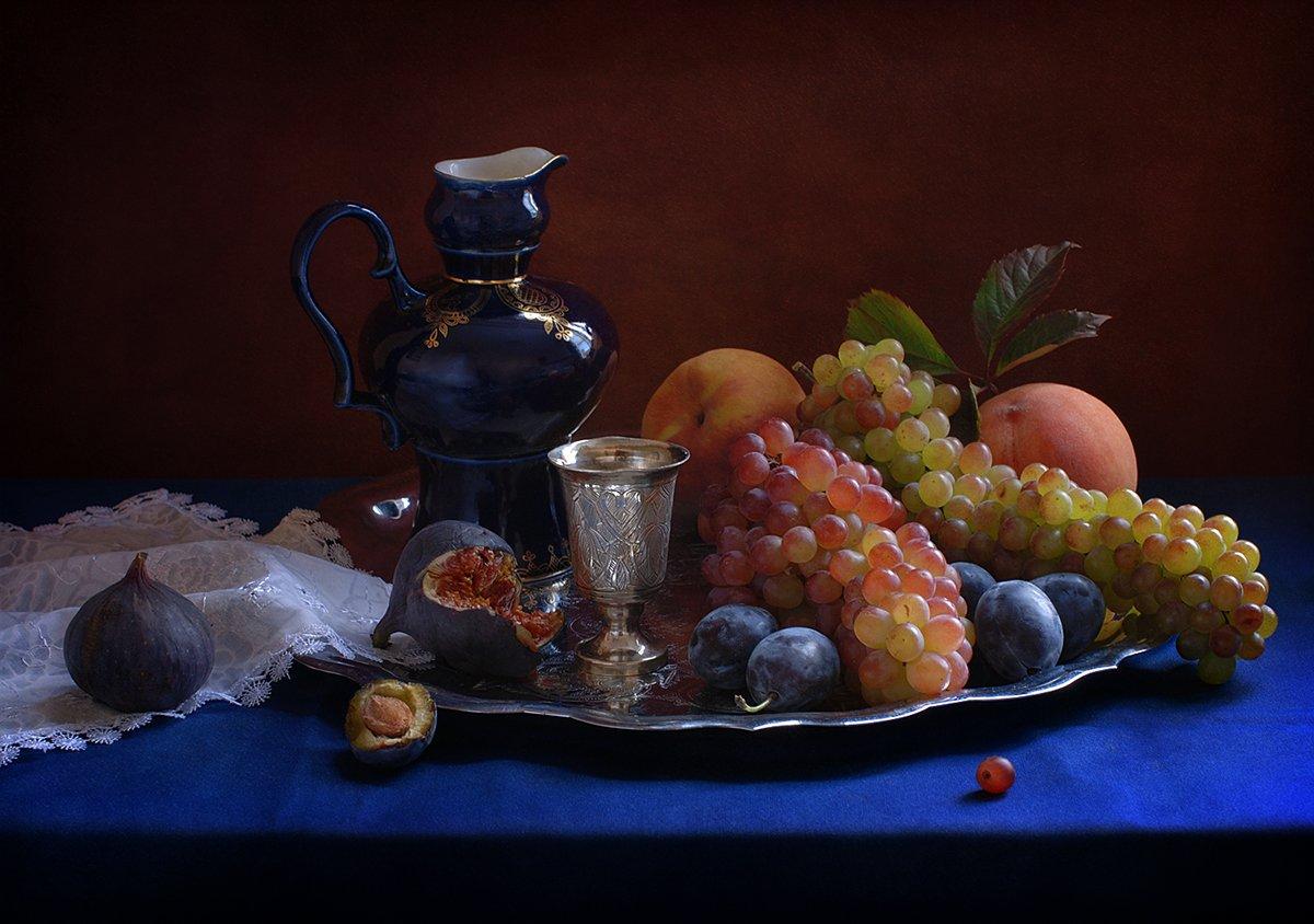 виноград, натюрморт, фрукты, Elena