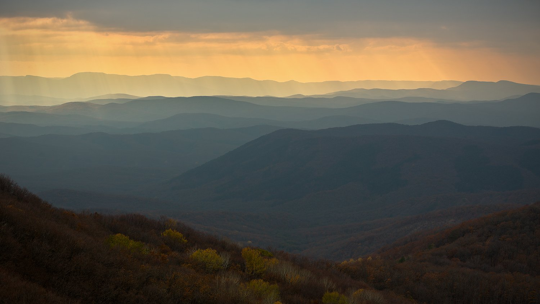 крым, осень, закат, горы, Nikolai (locus)