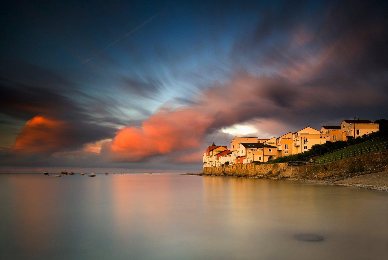 Clouds, Seascape, Sunrise, Sunset, Swanage, Rafal