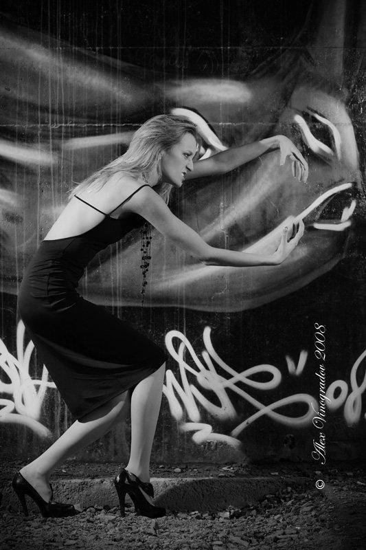 графити,  носорог,  линии,  девушка,  агрессия,  экспрессия,  ассоциации,  намеки, носорог, Alex Vinogradov