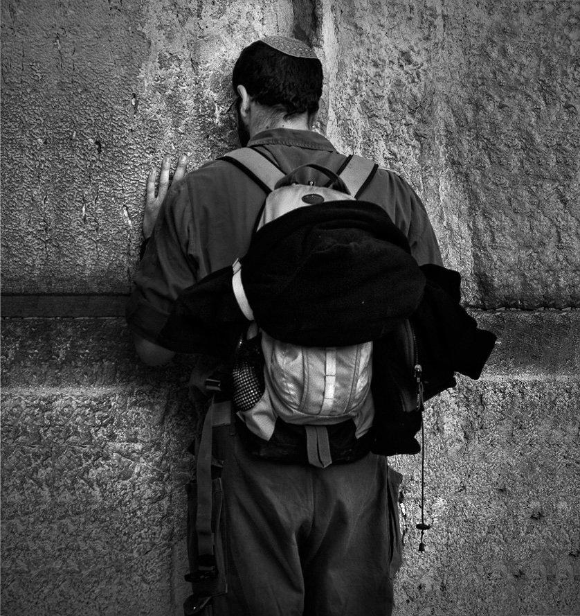 иерусалим, старый город, стена плача, солдат, цахал, молитва, защитник, Maxim_Shamota