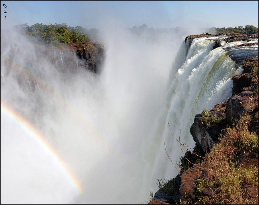 victoria falls, водопад виктория, замбези, зимбабве, замбия, zimbabwe, zambia, zambezi, африка, africa, rainbow, радуга, панорама, panorama, Оксана Борц
